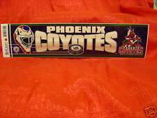 Phoenix Coyotes NHL Team Logo Bumper Sticker