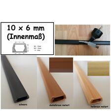 1m Kabelkanal 10x6mm (Innenmaß) selbstklebend (Verbinder verfügbar)