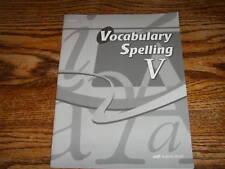 A beka GRADE 11 Vocabulary Spelling V QUIZ KEY ~ NEW!