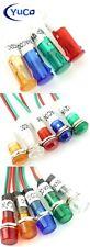 (10) Pack Yuco Miniature Indicator Light 9mm LED Choose: Model, Color, Voltage