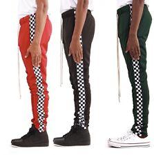 EPTM Epitome Men's Techno Side Zipper Long Drawstring Square Checker Track Pants