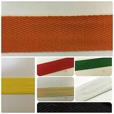 Cotton Blend Binding Apron Herringbone Twill Webbing Tape Sew Strap All Widths