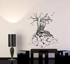 Wall Decal Nature Girl Tree Stone Network Binding Strength Vinyl Sticker (ed652)