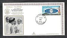 1970 VATICANO BUSTA SPECIALE VIAGGI DEL PAPA 28.11.1970 - MANILA FILIPPINE