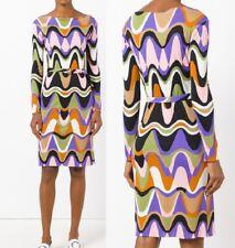 MW009569 - DESIGNER MULTICOLOUR JERSEY SILK DRESS W/ BELT (#696)