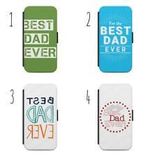 Papá mejor jamás Abatible Billetera Teléfono Estuche Cubierta para todos iPhone & Samsung