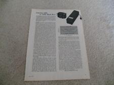 Ortofon SL-15,MP 235 Cartridge Review, 1971, 1 page