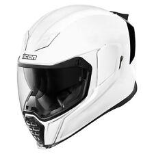 Icon airflite blanc brillant INTÉGRAL Casque motocycle moto toutes tailles