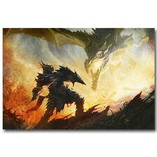 140517 Skyrim Dragon Fir Fantasy Wall Print Poster Affiche