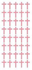 "1"" Pink Cross Stickers Envelope Seals Religious Church School arts Crafts"