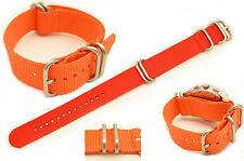 24mm HEAVY DUTY watch band For LUMINOX Watches orange Nylon  4 Rings Strap