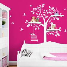 Wandtattoo Wandsticker Wandaufkleber Kinderzimmer Baum XXL Eule Vögel W3281