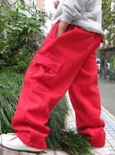 L-5XL Mens Cargo Baggy Hip Hop Long Pants Trousers Athletic Sweatpants Size N495