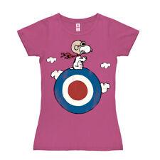 Camiseta para mujer Snoopy - El Blanco - Peanuts - Snoopy - Target - Rosa
