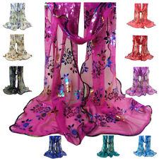 Good Quality Ladies Vintage Scarf Colorful Flower Lace Gauze Veil Wrap Shawl