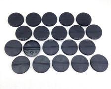 32mm Round Black Plastic Slotta / No Slot Bases - Wargaming Warhammer 40k