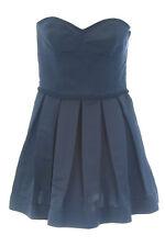 ANNE LEMAN Women's Navy Strapless Pleated Fabiola Dress SP91DR14 $548 NEW