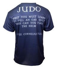 Judo T-shirt 'Pull An Oar' Navy BJJ MMA No-gi