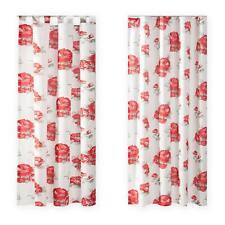 Dekoschal Rose Gardine blickdicht ca 140x245 cm Vorhang Übergardine mit Blumen