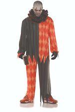 Underwraps Evil Clown Scary Horror Orange Adult Mens Halloween Costume 28600