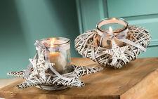 Windlicht Weide Herz Stern Advent Weihnachten (G21240) Kerzenhalter Tischdeko