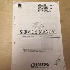 Original AIWA Service Manuals for CD Players XC XP