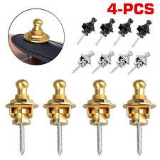 4pcs Guitar Strap locks Schaller Style Guitar Bass Parts S-Lock Straplock