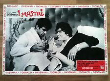 I MOSTRI fotobusta poster affiche Ugo Tognazzi Vittorio Gassman Dino Risi BN29