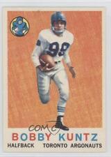 1959 Topps CFL #64 Bob Kuntz Toronto Argonauts (CFL) Rookie Football Card