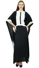 Bimba Women's Muslim Jilbab Black Rayon Maxi Abaya Gown Nun Style Kimono Kaftan