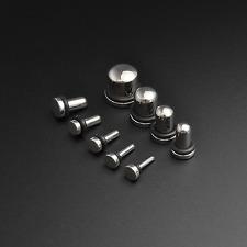 Polpa Plug Orecchio stiramento KIT | SINGLE Flare | Acciaio Chirurgico | 1,6 mm - 10mm