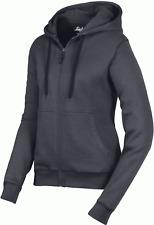 Snickers 2806 Womens Full Zip Work Hoodie Sweatshirt, Brushed Lining - STEEL