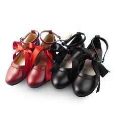 Schwarz Rot Lolita Damen-Schuhe Barock Cosplay Princess Ribbon Party Shoes Neu