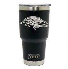 Baltimore Ravens YETI Laser Engraved Colster, 20 or 30 oz Black Tumbler