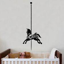 CAROUSEL HORSE Adesivo Parete Arte kids Room BAMBINE NURSERY 60 cm x 152 cm,