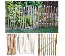 Gartenzaun STAKETENZAUN oder STAKETENTOR, Staketen Holzzaun Gartentüre aus Hasel