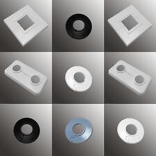 10 Abdeck Rosetten für 35 mm Heizungsrohr Kupferrohr Einzelrosetten