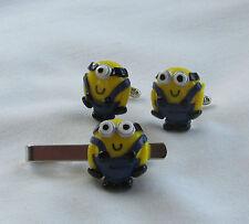 Handmade Novelty Fun - Despicable Me Minion Charm Cufflinks - Mens Gift Idea