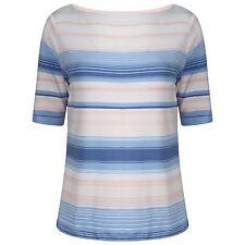 Ladies Famous Brand Stripe Pattern Short Sleeve T-Shirt-Next Day Despatch M&S