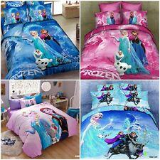 100%Cotton Frozen Sister Doona/Quilt/Duvet Cover Set Single/Double/Queen Bed New