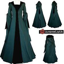 Mittelalter Gothik Karneval Gewand Kleid Kostüm Milienn Dunkelgrün-Schwarz XS-56