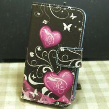1x Papillon Amour Housse Etui Coque Wallet Flip case cover pour téléphone