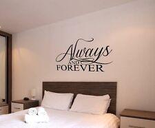 Sempre e per sempre Wall Art Adesivo Camera da letto casa salotto soggiorno Amore Preventivo