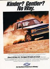 1992 Chevrolet S-10 Tahoe Truck 4x4 - Classic Vintage Advertisement Ad H12