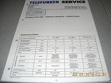 TELEFUNKEN Lautsprecherbox HL660 HL860 HL870CD Service Manual