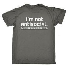 Not Antisocial Socially Selective T-SHIRT Sarcastic Awkward birthday gift
