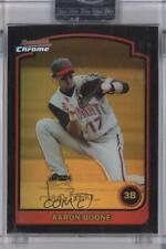 2003 Bowman Chrome Gold Refractor #57 Aaron Boone Cincinnati Reds Baseball Card