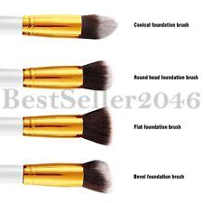 4pcs Makeup Set Kits Brushes Round Flat Bevel Foundation Cosmetics Brush Tool
