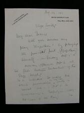 "Herbert Trench 1919 Lovely ALS re His Play ""Napoleon"""