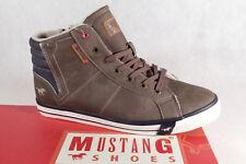 Mustang Stiefel Boots Schnürstiefel braun gefüttert, 4096 NEU